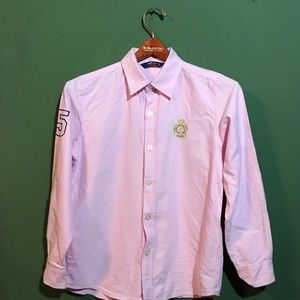 Meli Melo Long Sleeve Button down Pink Dress Shirt